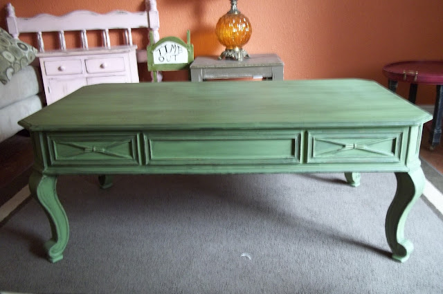 Refurbished Furniture Truely Olive Chunky Coffee Table