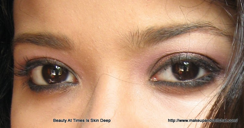Smokey copper eye makeup