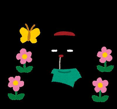 お花畑とぴょこのイラスト