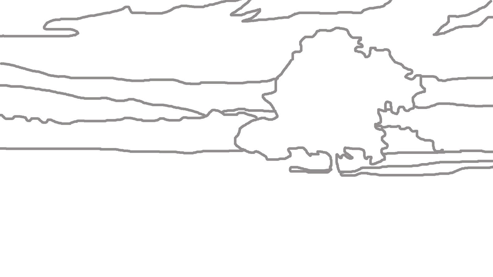 Line Drawing Landscape : Simple line drawing landscape imgkid the image
