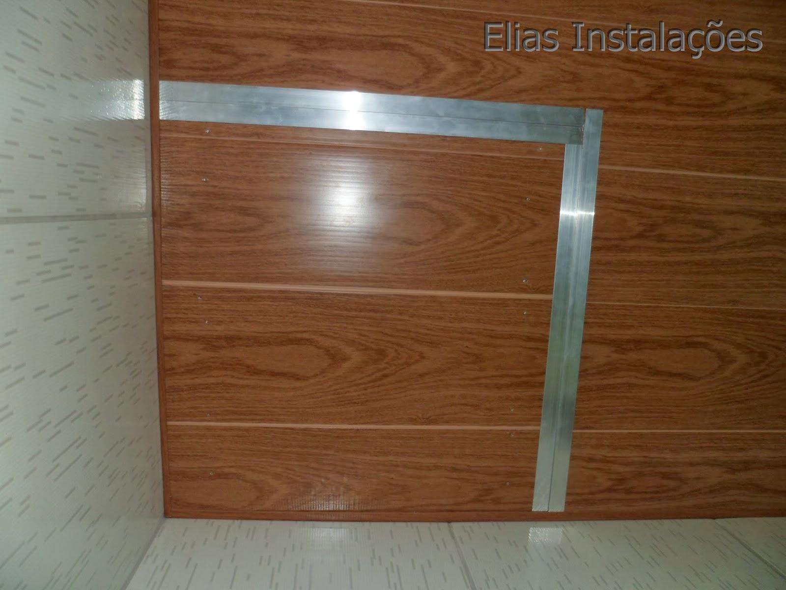 #4D2C10 Elias Instalador: Tampa/ Abertura no forro de pvc que imita madeira 1870 Janela De Aluminio Que Imita Madeira