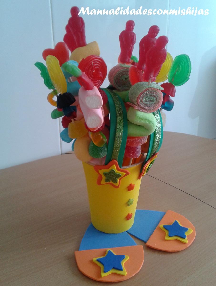 Manualidades con mis hijas empaquetado bonito un dulcero for Manualidades e ideas