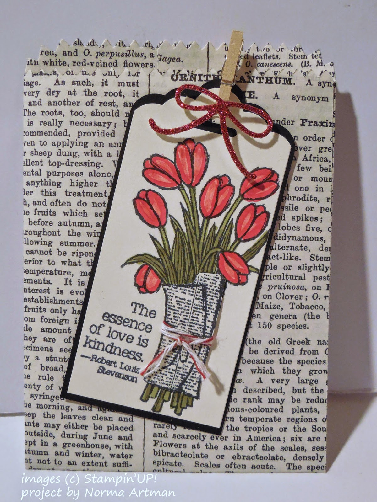 Small Treat Pouch made with Stampin'UP!'s Mini Treat Bag Thinlet Die