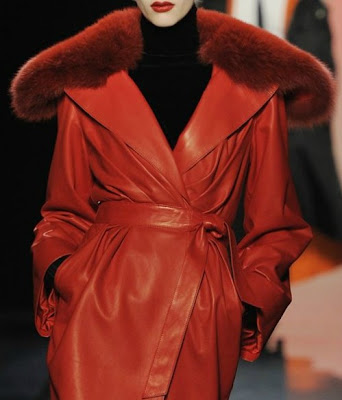 red leather coat gaultier