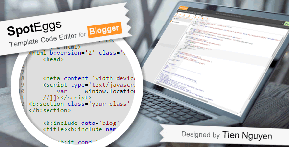 SpotEggs - Online Blogger Template Code Editor for Developers