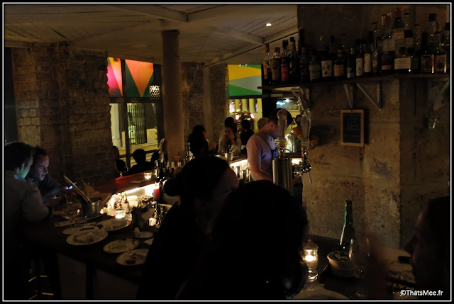 Mary Celeste bar bois Candelaria rue des Commines Paris huîtres fooding