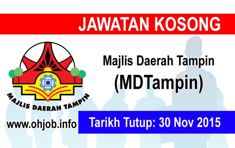 Jawatan Kerja Kosong Majlis Daerah Tampin (MDTampin) logo www.ohjob.info november 2015