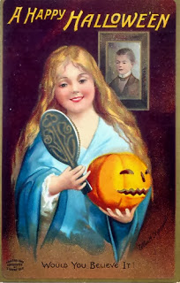 happy halloween oldskool retro poster pumpkin carving fall autumn