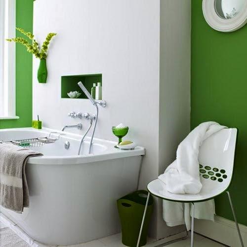 green bathroom decoration