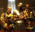 Snoop Dogg and the firefighters