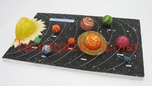 maqueta escolar del sistema planetario solar
