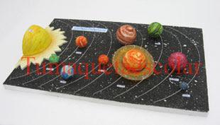 maqueta del sistema planetario solar