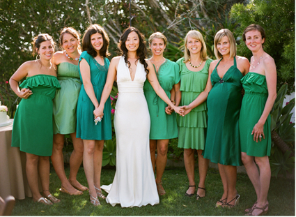 beautiful maternity bridesmaid dresses