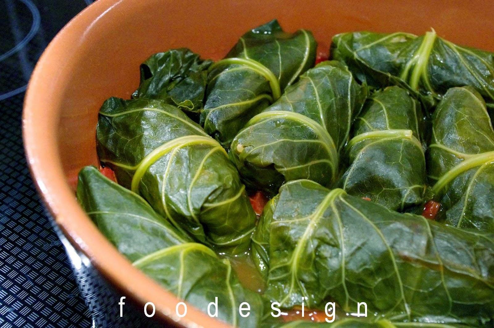 foodesign: collard greens rolls