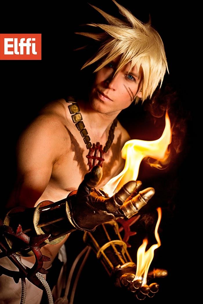 cosplay avec flammes de elffi