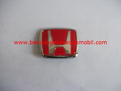 Emblem Exclusive Logo Mobil Honda Merah Kecil