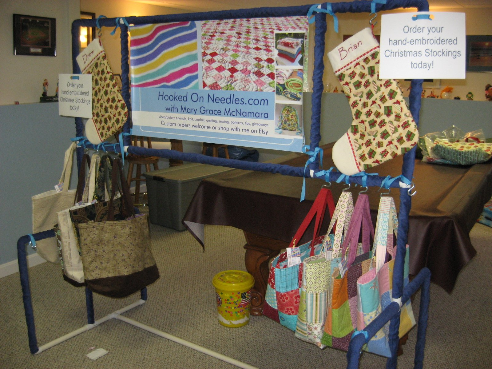 Hooked On Needles Getting Ready For My First Craft Fair
