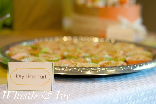 Citrus Themed Baby Shower Oranges Lemons Limes Grapefruit Key  Lime Tart
