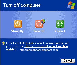 Cara mengaktifkan tombol stand by di windows xp