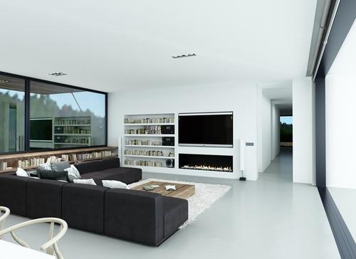 Arla mueble antiguo en sal n minimalista for Mueble salon minimalista