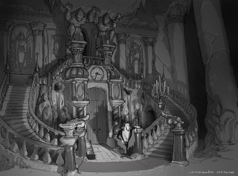 A r m a n d s e r r a n o: earliest hotel transylvania foyer/lobby ...