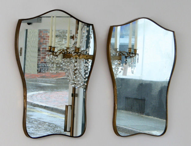 pair 1950s italian mirrors FREE FORM MIRRORS OF THE 50S