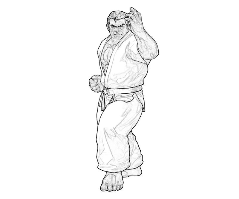 king-of-fighters-takuma-sakazaki-skill-coloring-pages
