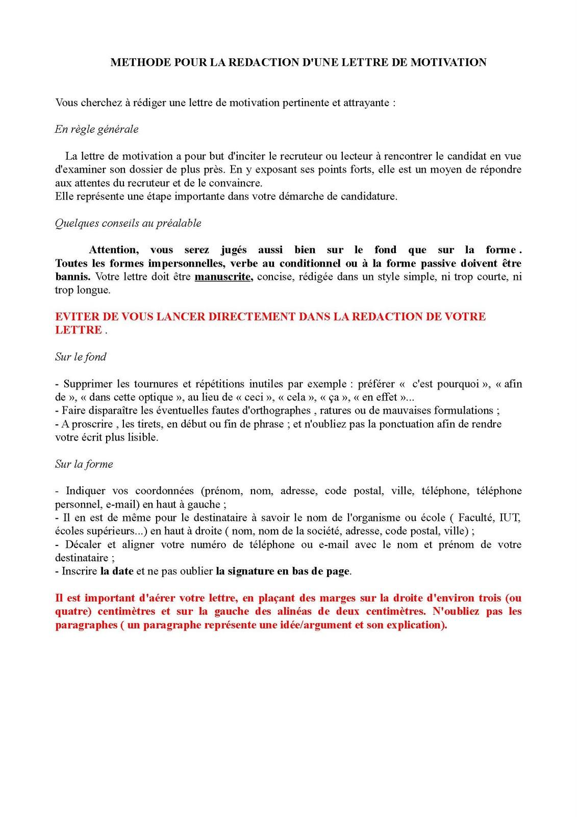lpis cordees  tutorat redaction d u0026 39 une lettre de motivation