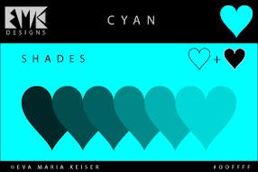 Shades of Cyan: