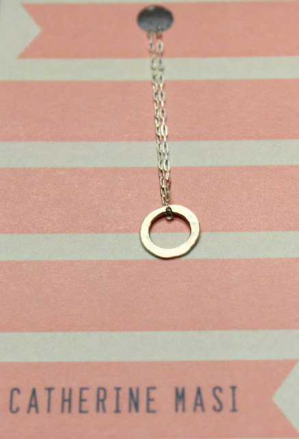 sterling silver circle necklace - catherine masi