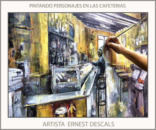 CAFETERIAS-PINTURAS-PINTANDO-PERSONAJES-VALLDEROURES-CAFETERIA-CUADROS-PINTURA-OLEOS-ARTISTA-PINTOR-ERNEST DESCALS-