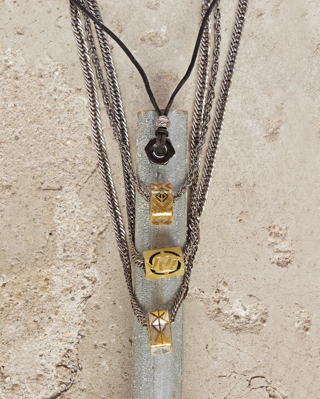 men's gear jewelry by Quiet Lion Creations.
