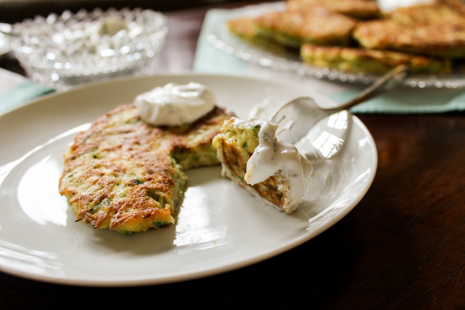 The Quixotic Table: Savory Zucchini Pancakes