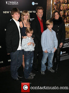 "Jon Bon Jovi and Family... Premiere Of ""New Year's Eve""..Teatro ..."