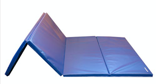 Gymnastics mats use cross-linked polyethylene foam.