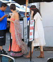 Selena Gomez out for  Lunch At Kabuki in Encino with a friend
