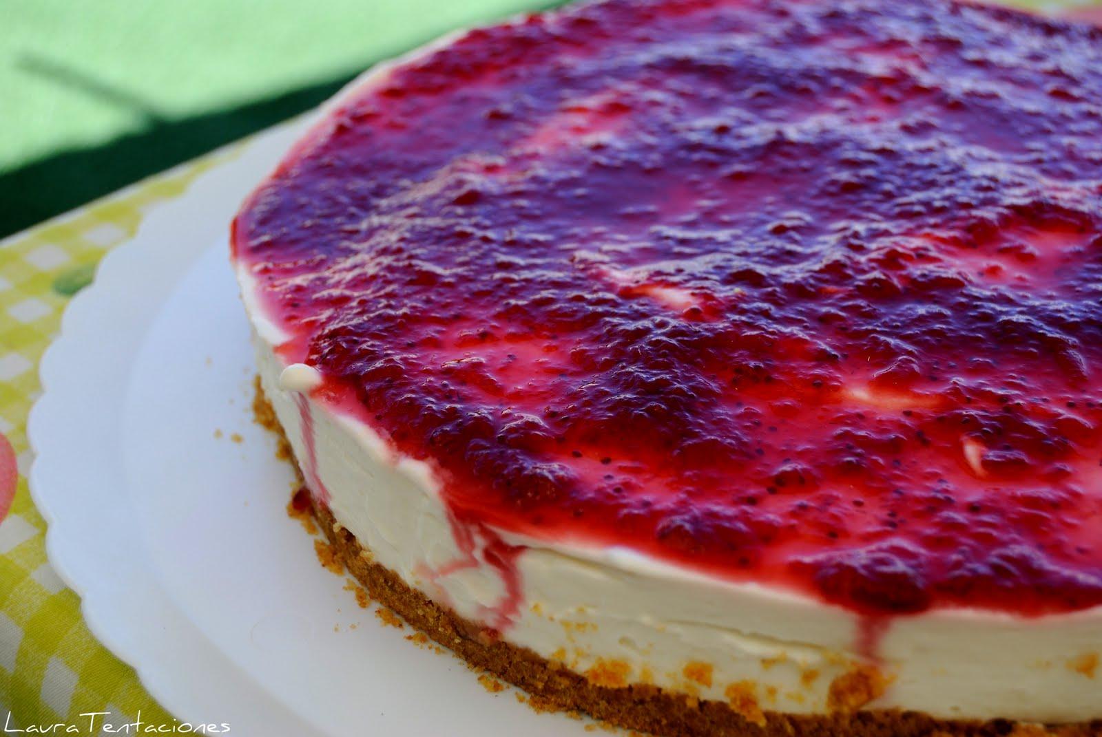 tarta de queso sin horno y sin nata