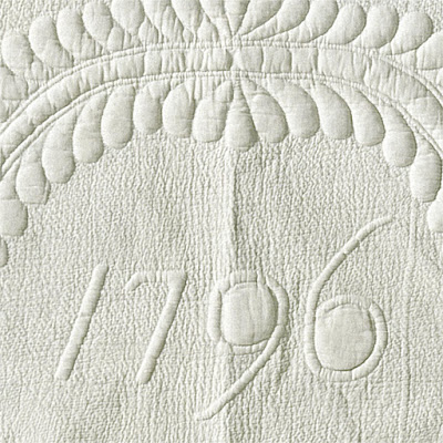Tree of Life Whitework Quilt Artist Unknown 1796
