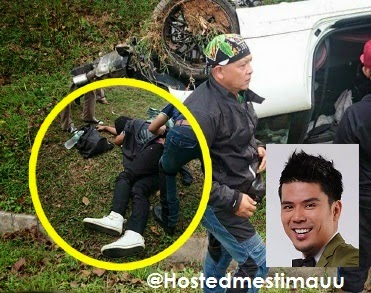 5 Gambar Awal Ashaari kemalangan ketika ke Jom Heboh Ayer Keroh