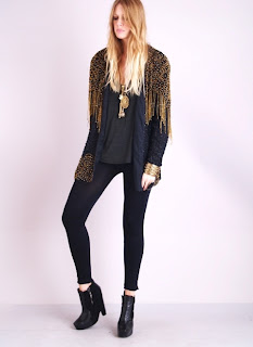 Vintage 1980's black beaded silk trophy jacket with black and gold beaded fringe.