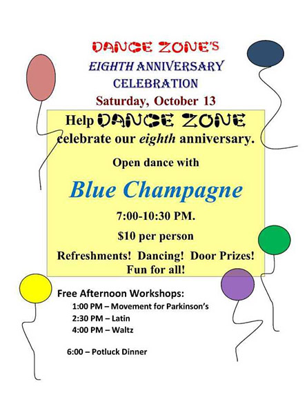 Celebrate Dance Zone's 8th Anniversary Oct. 13
