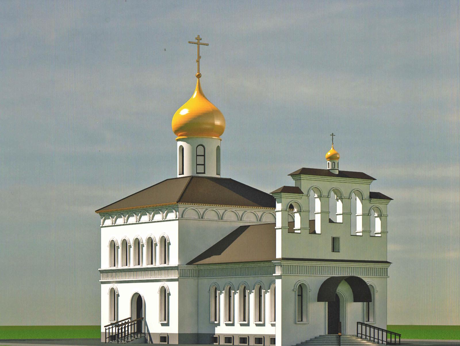 Макет храма Николая Чудотворца
