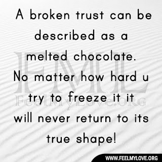 A broken trust can be described