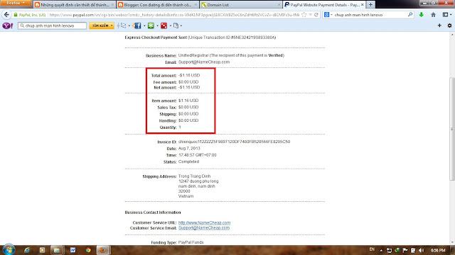 Tên miền giá rẻ từ namecheap chỉ với 1.16$, coupon namecheap tháng 8 3