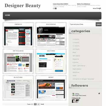 Designer Beauty blogger template with featured content template and 4 column fotter template. template magazine style. template photography blogger template. wordpress theme photography