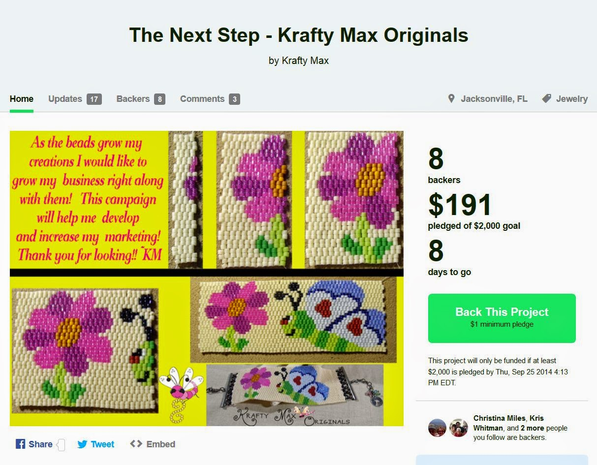 https://www.kickstarter.com/projects/609688641/the-next-step-krafty-max-originals