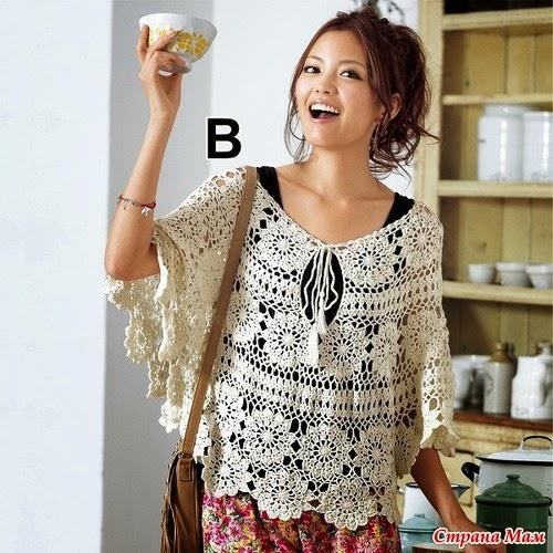 capa de dama crochet diseño juvenil