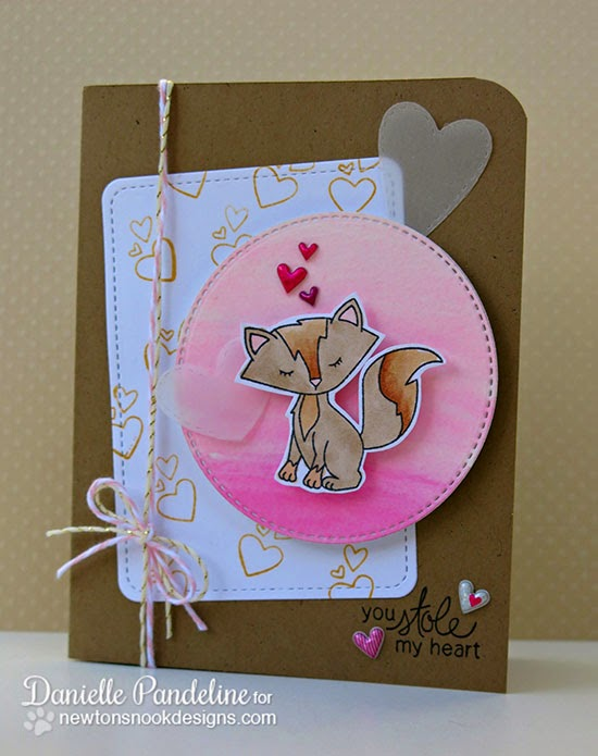 Foxy Valentine card by Danielle Pandeline for Newton's Nook Designs