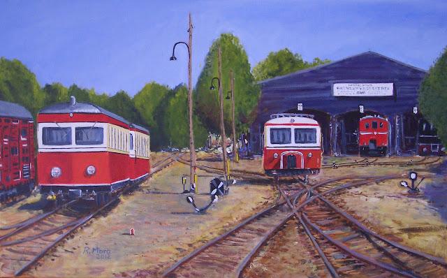 estacio de trens,acrilic,pintura,rmora