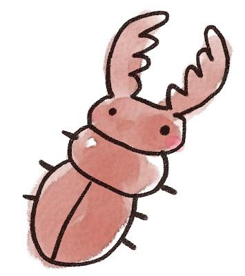 クワガタムシのイラスト(虫)